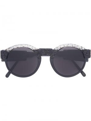 Солнцезащитные очки Mask K10 Kuboraum. Цвет: чёрный