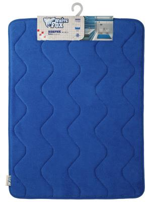 Коврик для ванной  White Fox Relax, Волна, синий 50*70см. Цвет: синий