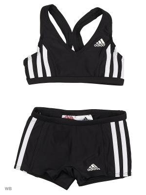 Купальник дет. спорт. I 3S 2PC Y  BLACK/WHITE Adidas. Цвет: черный
