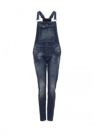 Комбинезон джинсовый Jack & Berry. Цвет: синий