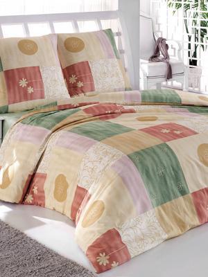 Постельное белье Тет-а-Тет. Цвет: бежевый, зеленый, бордовый