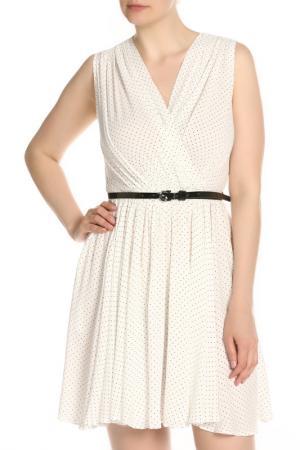 Легкое летнее платье с поясом Isabel Garcia. Цвет: bright white