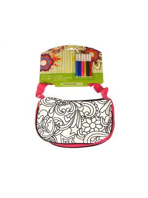 Набор Раскрась сумочку с фломастерами Азбука Тойс. Цвет: красный