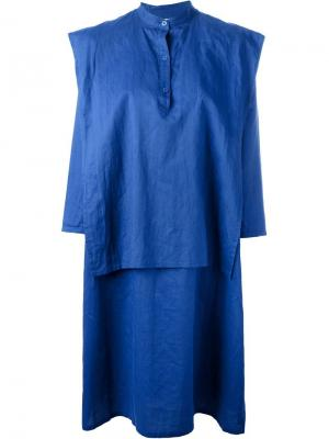 Многослойное платье-рубашка Jc De Castelbajac Vintage. Цвет: синий