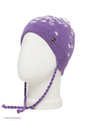 Шапка ELFE. Цвет: фиолетовый, белый, сиреневый