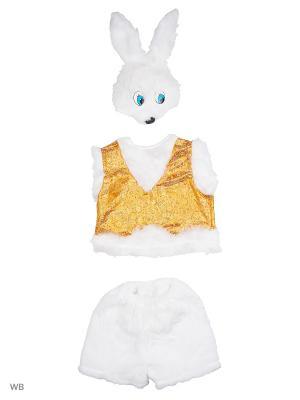 Карнавальный костюм Зайчишка Братишка Батик. Цвет: белый