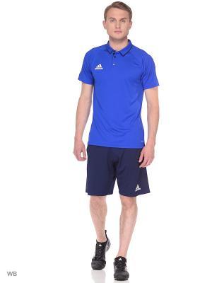 Спортивные шорты Adidas. Цвет: темно-синий