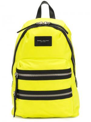 Рюкзак в байкерском стиле Marc Jacobs. Цвет: жёлтый и оранжевый