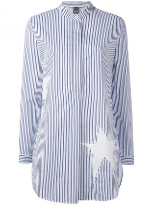 Oversized star stripe shirt Lorena Antoniazzi. Цвет: белый