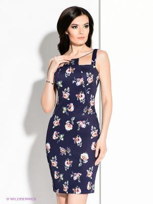 Платье MARY MEA. Цвет: темно-синий, розовый