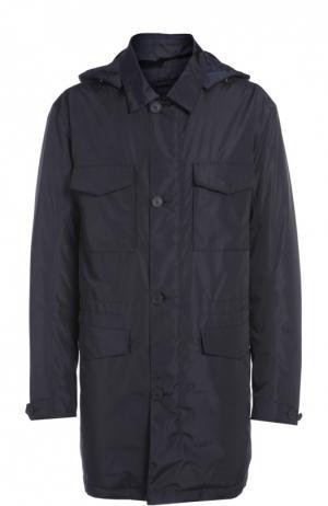 Куртка с капюшоном Z Zegna. Цвет: темно-синий