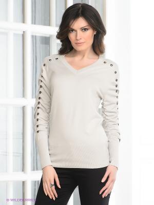 Пуловер Viaggio. Цвет: светло-серый