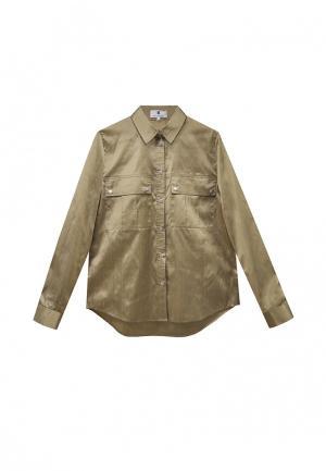 Рубашка Bergamoda. Цвет: хаки
