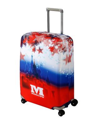 Чехол для чемодана  Moscow M/L Coverway. Цвет: красный