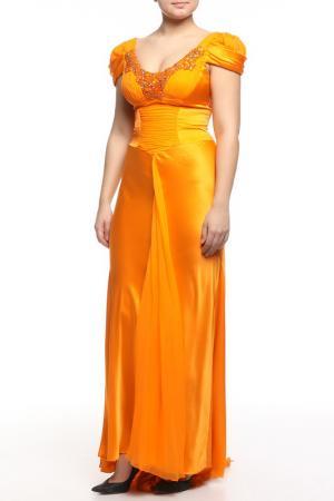 Платье вечернее Dina Bar-El. Цвет: оранжевый
