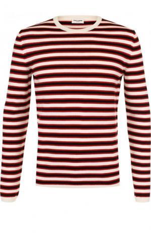 Шерстяной джемпер в контрастную полоску Saint Laurent. Цвет: разноцветный