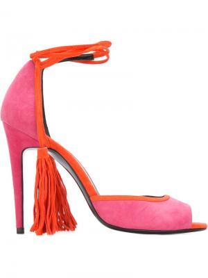 Босоножки с кисточками Pierre Hardy. Цвет: розовый и фиолетовый