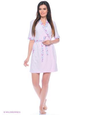 Комплект домашний (халат, сорочка) MARSOFINA. Цвет: розовый