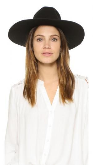 Черная фетровая шляпа с лентой Kente Indego Africa