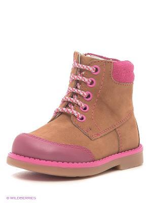 Ботинки ELEGAMI. Цвет: коричневый, розовый