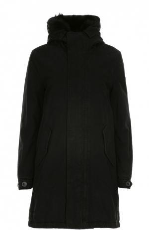 Куртка с капюшоном Lempelius. Цвет: черный