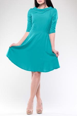 Платье REBECCA TATTI. Цвет: бирюзовый