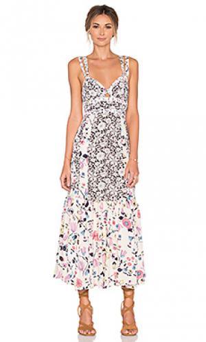 Платье без рукавов tapestry garden Rebecca Taylor. Цвет: ivory