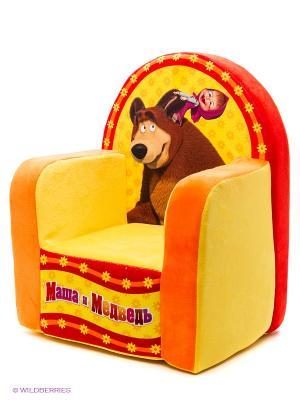Детское кресло Маша и Медведь. Цвет: желтый