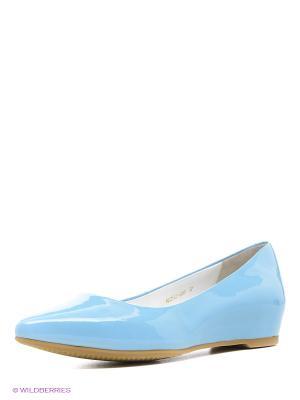 Балетки Moda Donna. Цвет: голубой