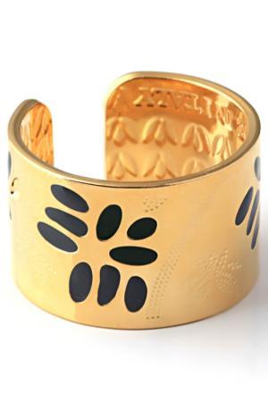 Кольцо Kemira. Цвет: золотой, черный