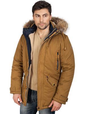 Куртка TAIS. Цвет: рыжий