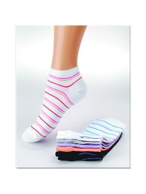 Носки женские М 1013 Грация. Цвет: белый, малиновый, оранжевый, розовый