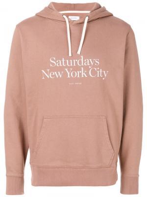 Толстовка Ditch Miller Saturdays Nyc. Цвет: розовый и фиолетовый