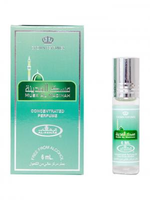 Арабские масляные духи Муск Аль Мадина (Musk Al Madinah), 6 мл Rehab. Цвет: темно-зеленый, серебристый