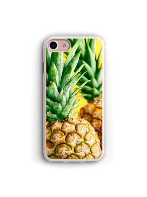 Чехол для iPhone 7/8 Ананас Boom Case. Цвет: светло-зеленый, светло-желтый