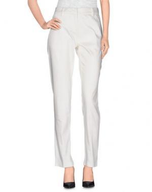 Повседневные брюки FAIRLY. Цвет: белый