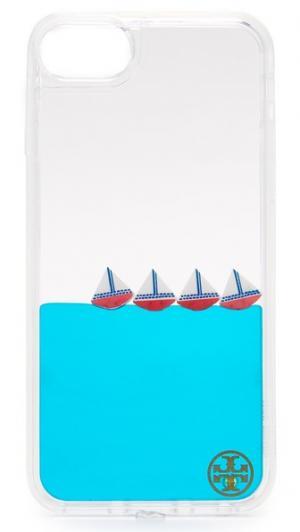 Чехол для iPhone 7 с парусниками и жидкостью Tory Burch