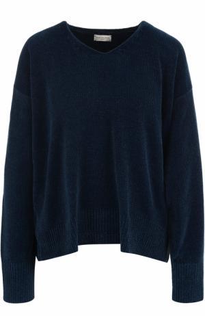 Пуловер свободного кроя с V-образным вырезом Dries Van Noten. Цвет: синий