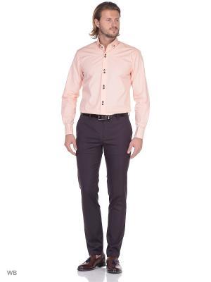 Рубашка мужская манжет под запонки WHITE CUFF. Цвет: персиковый