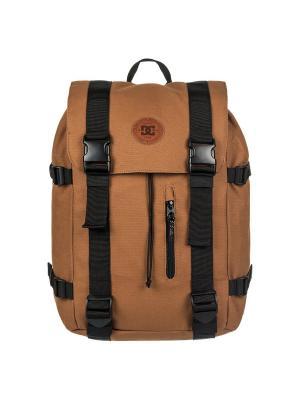 Рюкзак DC Shoes. Цвет: темно-бежевый, светло-коричневый