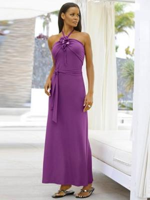Платье-бандо ALBA MODA. Цвет: лиловый