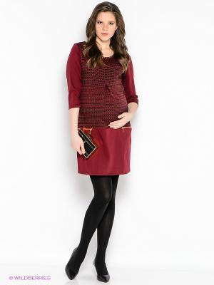 Платье EUROMAMA. Цвет: бордовый