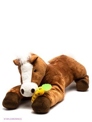 Лошадь Игогоша TEEBOO 91208R цвет коричневый, белый MSN TOYS. Цвет: коричневый, белый