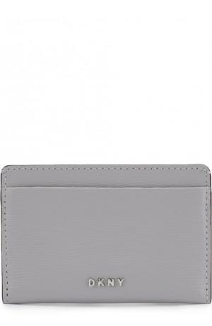 Кожаный футляр для кредитных карт DKNY. Цвет: голубой