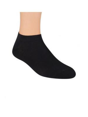 Носки короткие, бамбук Steven. Цвет: черный, антрацитовый