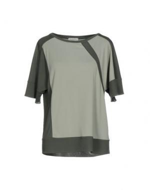 Блузка BARONI. Цвет: зеленый-милитари