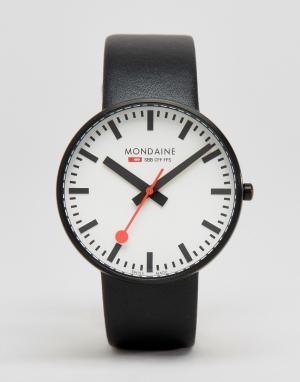Mondaine Черные часы с циферблатом диаметром 42 мм Giant. Цвет: черный