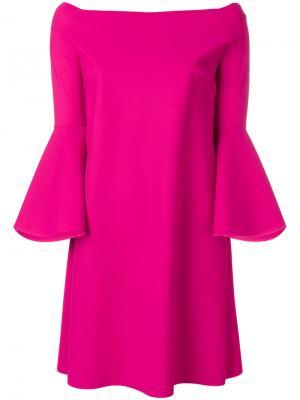 Платье с рукавами клеш Chiara Boni La Petite Robe. Цвет: розовый и фиолетовый