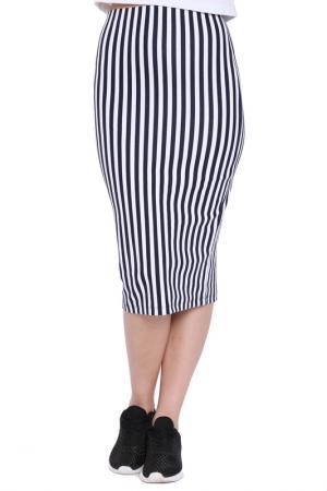 Skirt Moda di Chiara. Цвет: navy and white