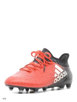 Футбольные бутсы (мяг.покр.) муж. X 16.1 FG Adidas. Цвет: красный